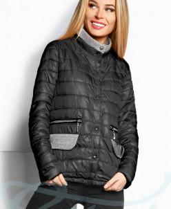 Комбинированная демисезонная куртка Gepur