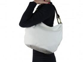 Новая белая кожаная сумка Gaude