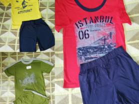 Три новых комплекта футболка+Шорты р. 122-128