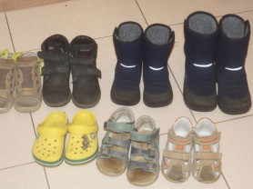 Много обуви для мальчика, с 22 по 27