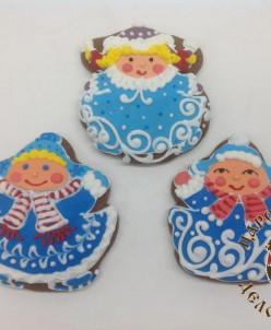 189-1 Пряник Девочка-снежинка 10 см