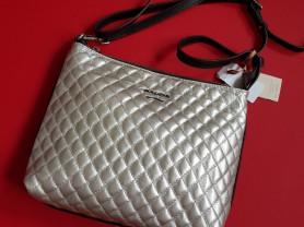 Новая кожаная перламутровая сумка Италия