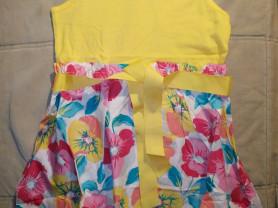 Желтое платье Childrens place на 7/8 лет, новое