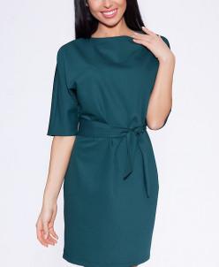 6919 Платье Темно-зеленый