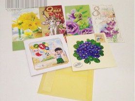 Набор ярких открыток для коллекционеров