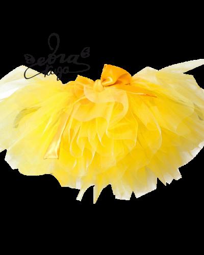 Желтая юбка туту