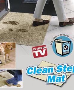 Супервпитывающий придверный коврик Clean Step Mat, бежевый
