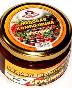 Мёд с экстрактом брусники