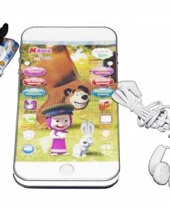 Телефон Маша Медведь с наушниками игрушка
