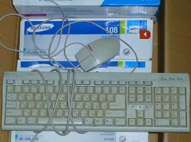 клавиатура Genius и мышь CompaQ (старого типа)