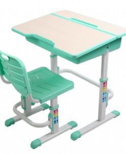 Комплект стол+стул трансформер EVOLIFE Study 2 зеленый