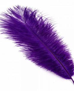 Перо страуса арт.S-250-7 25-30 см цв.фиолетовый