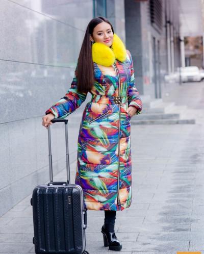 Экстравагантное зимнее пальто  522П