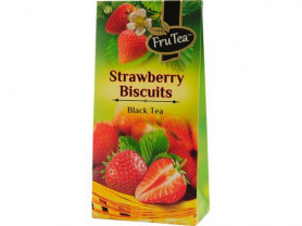 """Чай черный FruTea """"Земляничное печенье"""" 50 граммов"""