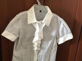 Хлопковая блузка с коротким рукавом Benetton
