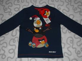 Новая футболка с длинным рукавом Angry Birds, 3-4