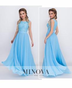 Платье №3096-Голубой