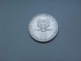 Монета 10 Злотых 1984 год MW Польша