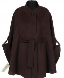 Пальто женское демисезонное (пояс) Кашемир Коричневый