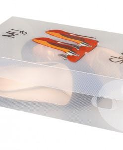 """Коробка для хранения женской обуви 30*18*10 см """"Туфли на шпи"""