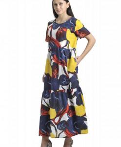 Платье Афелия (3484). Расцветка: абстракция