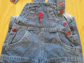 Комбез-шорты джинс, 1 год, 300 руб