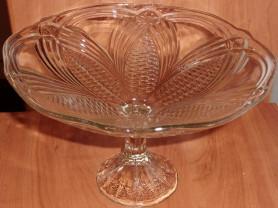 Ваза стекло для сладостей СССР диаметр 24.5 см