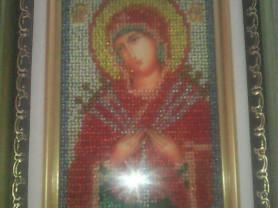 Икона вышивка биссером богородица семистрельная