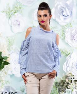 Блуза с открытыми плечами - 15405