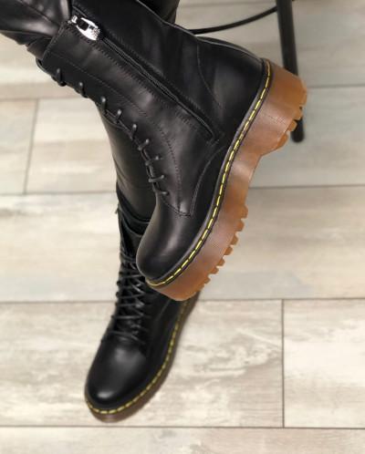 Стильные высокие ботинки на шнуровке. New collection SS/20
