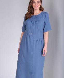 Платье TVIN 7487 темно-голубое