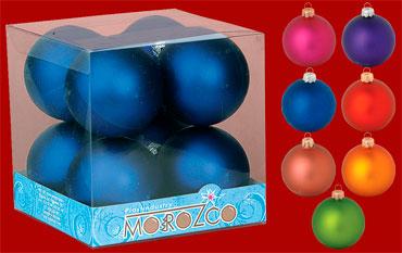 """Набор шаров """"Новогодний"""", диаметр 85 мм, матовый"""