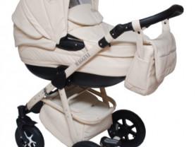 детская коляска maggini 2 в 1 (с люлькой и прогулочным блоком для детишек постарше)