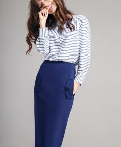 Р1167 юбка   Цвет: синий