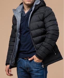 Графитовая фирменная мужская куртка модель 15181