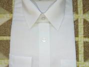 Новая белая рубашка р.134/140 в упаковке ...