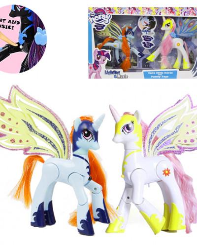 Набор игрушек сказочные пони с музыкой и подсветкой
