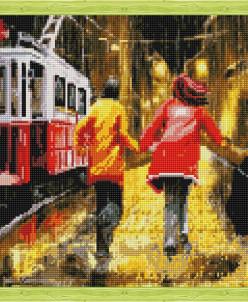 Последний трамвай - алмазная мозаика