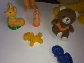 Старые советские СССР игрушки,кукла,лев,мишка