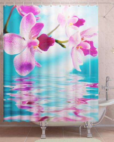Фотоштора для ванной Бирюзовая нежность