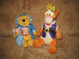 мягкие игрушки дисней винни пух и тигра