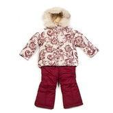 Зимний комплект для девочки Kiko (бежевый/бордо), 1-6 лет