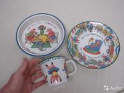 Набор посуды для ребенка Tiffany, новый 3 предмета