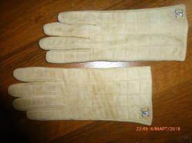 перчатки замшевые, р.8, новые