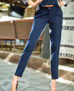 Укороченные шерстяные брюки