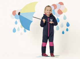Влаго и ветрозащитный комбинезон для девочек
