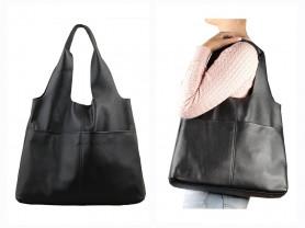 Новая кожаная сумка -мешок Италия оригинал