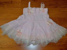 Розовый Сарафан\платье KATE MACK 12 мес