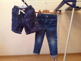 Джинсы,шорты,рубашки.Размер 98.