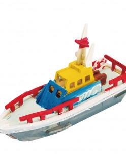 Спасательная лодка - 3Д пазл раскраска